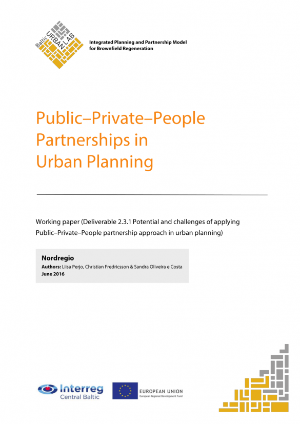 Working Paper: Public-Private-People Partnerships in urban planning